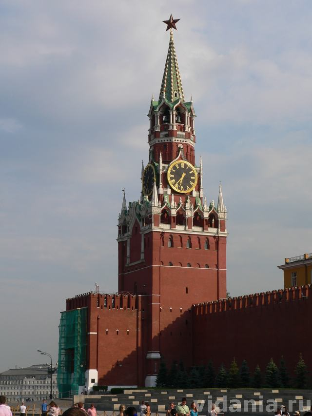 Раскраска спасская башня московского кремля